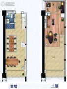 富力天海湾0室0厅0卫58平方米户型图