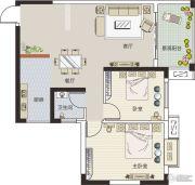 锦都华庭2室2厅1卫0平方米户型图