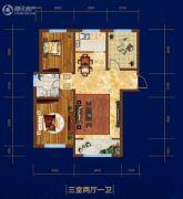 庆丰・御锦湾3室2厅1卫0平方米户型图