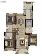 当代万国府MOMΛ4室2厅2卫130平方米户型图
