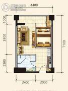 中天东方财巢大厦1室1厅1卫41--44平方米户型图