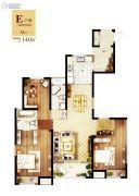 常德万达广场3室2厅2卫140平方米户型图