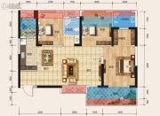 天立・学府华庭3室2厅2卫99平方米户型图