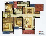 九龙仓时代上城3室2厅2卫127平方米户型图