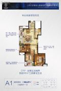 楚天都市・朗园3室2厅1卫93平方米户型图