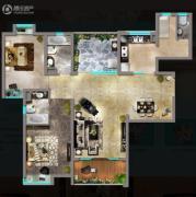 嘉汇城3室2厅3卫128平方米户型图