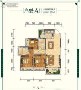 云星・钱隆世家3室2厅2卫89平方米户型图