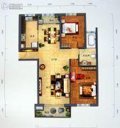 景园・盛世华都2室2厅1卫139平方米户型图
