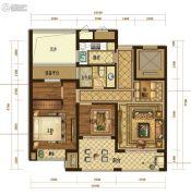 半岛名苑3室2厅1卫89平方米户型图
