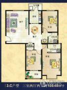 美巢蓝钻3室2厅2卫135平方米户型图