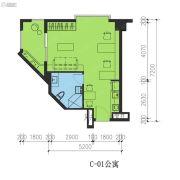 君湖尚寓1室0厅1卫49平方米户型图