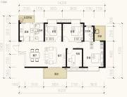 保利天禧3室2厅2卫134平方米户型图