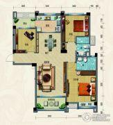 淄博碧桂园3室2厅2卫128平方米户型图