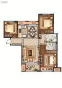 月桥花院3室2厅2卫109平方米户型图