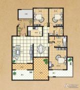 东方今典3室2厅2卫141平方米户型图