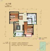 骏景溪悦2室2厅1卫89平方米户型图