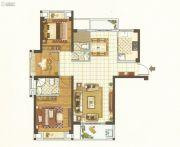 唐宁街1号3室2厅2卫110平方米户型图