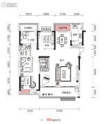融侨观澜3室2厅2卫125平方米户型图
