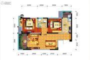 远大中央公园2室2厅1卫77平方米户型图