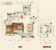 清江・月亮湾3室2厅2卫121平方米户型图