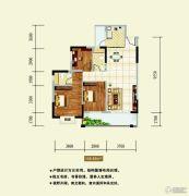 龙湖东岸丽苑3室2厅2卫109平方米户型图