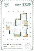 城南1号三期美林郡3室2厅2卫0平方米户型图