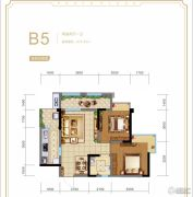 华宇广场2室2厅1卫75平方米户型图