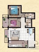 行宫・御东园2室1厅2卫98平方米户型图