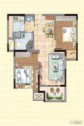 荣盛龙湖半岛2室2厅1卫77平方米户型图