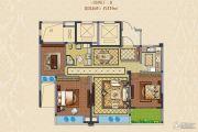 融创常州御园3室2厅1卫116平方米户型图