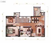 昆明广场3室2厅1卫91平方米户型图