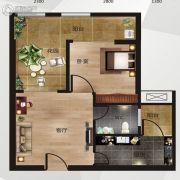 中南明珠1室1厅1卫47平方米户型图