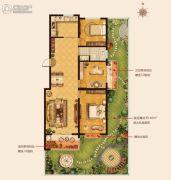 城建・锦绣城3室2厅1卫108--116平方米户型图