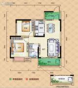 梅溪峰汇2室2厅1卫77--81平方米户型图