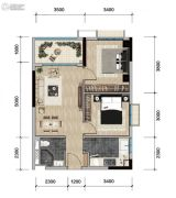 远洋天骄广场2室2厅1卫71--75平方米户型图