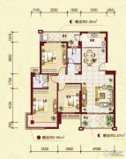 中南明珠3室2厅2卫115平方米户型图