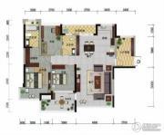 冠亚・国际星城2室2厅2卫132平方米户型图