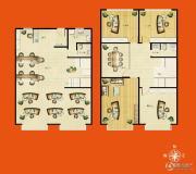 佳达生活广场3室3厅2卫116平方米户型图