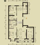 九星国际e世界3室2厅2卫153平方米户型图