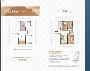 天元广场3室2厅2卫132平方米户型图