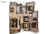南昌铜锣湾广场3室2厅2卫139平方米户型图