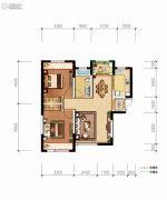 德杰・德裕天下2室2厅1卫83平方米户型图