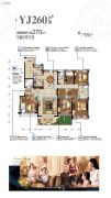 碧桂园・豪庭5室2厅3卫270平方米户型图