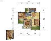 万象国际城2室2厅1卫83平方米户型图