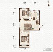 益和国际城2室2厅1卫70平方米户型图