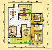 中央新城2室2厅2卫126平方米户型图