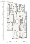 成都银泰中心华悦府3室2厅4卫266平方米户型图