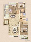 皓顺・华悦城3室2厅2卫116平方米户型图
