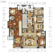 香檀一号3室4厅4卫410平方米户型图