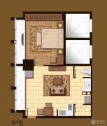 晶晖广场1室1厅1卫63平方米户型图